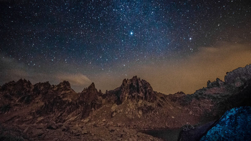 Andes Mountains by night